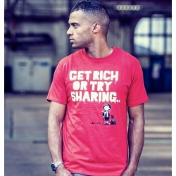 "t-shirt thtc ""get rich or try sharing""  55% chanvre et 45% coton bio"